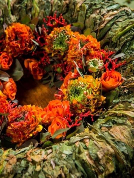Bloemstuk Europees Kampioenschap voor Jonge Floristen (samen met naam)